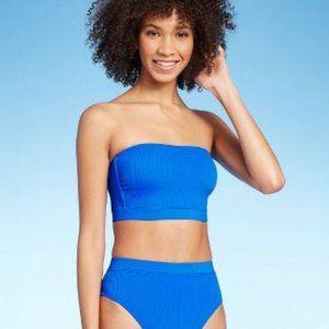 NWT Xhilaration Ribbed Tube Bandeau Bikini Top, S
